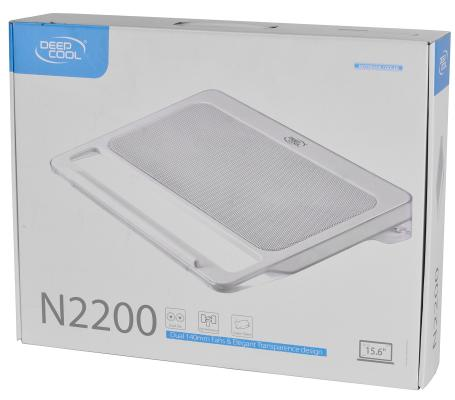 """Подставка для ноутбука 15.6"""" Deepcool N2200 350x273x55mm 2xUSB 721g 25dB белый"""