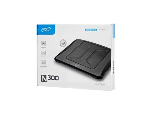 Подставка для ноутбука 15.6 Deepcool N300 340x266x57mm 1xUSB 558g 23dB черный подставка для ноутбука 14 deepcool n17 330x250x25mm 1xusb 465g 21db синий