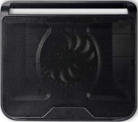 Подставка для ноутбука 15.6 Deepcool N280 340x310x54mm 1xUSB 530g 21dB черный теплоотводящая подставка под ноутбук deepcool n280 до 15 6 вентилятор 140мм usb