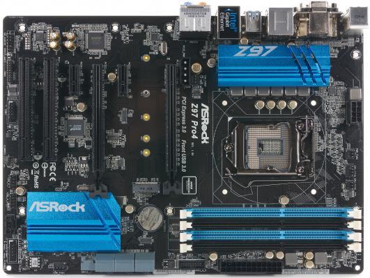 Мат. плата для ПК ASRock Z97 Pro4 Socket 1150 Z97 4xDDR3 2xPCI-E 16x 2xPCI 2xPCI-E 1x 6xSATAIII ATX Retail