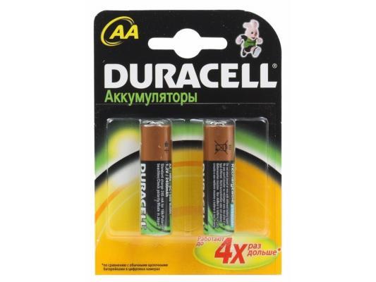 Аккумулятор Duracell HR6-2BL 1300 mAh AA 2 шт набор аккумуляторов duracell recharge aa nimh 1300 mah 2 шт