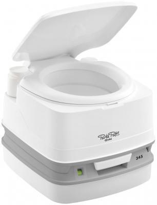 Биотуалет Porta Potti Qube 345 White (цвет белый, нижний бак 12л, верхний бак 15л, ручной насос, индикатор заполнения нижнего бака