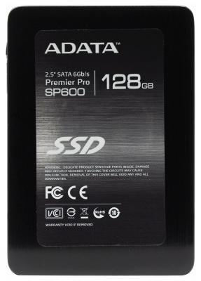 Твердотельный накопитель SSD 2.5 128GB A-Data SP600 Read 360Mb/s Write 130Mb/s SATAIII ASP600S3-128GM-C накопитель ssd a data adata ultimate su800 512gb asu800ss 512gt c