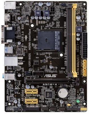 Мат. плата для ПК ASUS AM1M-A Socket AM1 AMD AM1 2xDDR3 1xPCI-E 16x 2xPCI-E 1x 2xSATAIII mATX Retail