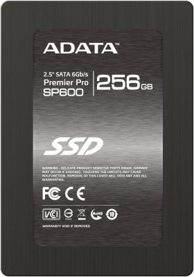 "SSD Твердотельный накопитель 2.5"" 256GB A-Data SP600 Read 360Mb/s Write 135Mb/s SATAIII ASP600S3-256GM-C"