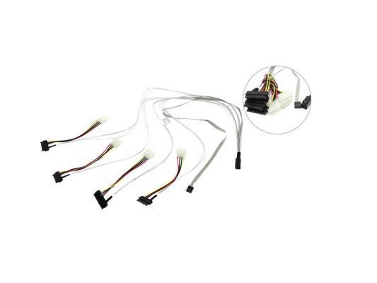Кабель Adaptec ACK-I-HDmSAS-4SAS-SB-0.8M 80см кабель интерфейсный sas adaptec ack i hdmsas hdmsas 0 5m 0 5м 2282200 r