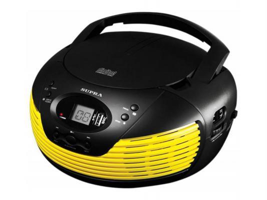 Магнитола Supra BB-CD120U желтый/черный