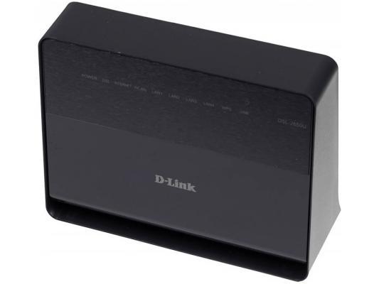 Беспроводной маршрутизатор ADSL D-LINK DSL-2650U/RA/U1A 802.11n 150Mbps 4xLAN маршрутизатор беспроводной d link dsl 2750u nru c