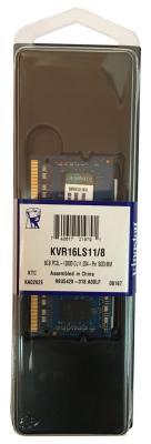 Оперативная память для ноутбуков SO-DDR3 8Gb PC12800 1600MHz Kingston KVR16LS11/8