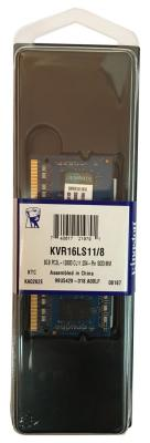 Оперативная память для ноутбуков SO-DDR3 8Gb PC12800 1600MHz Kingston KVR16LS11/8 оперативная память ddr3 2gb pc12800 1600mhz crucial ct25664bd160bj