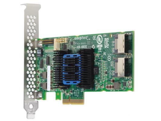 Контроллер SAS Adaptec ASR-6405E PCI-E v2 x1 LP SGL 2270800-R контроллер sas adaptec 2288500 r 2288500 r