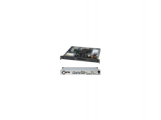 Серверный корпус Supermicro CSE-512F-410B 1U ATX 12''x10'' 1x3.5'' 410Вт черный
