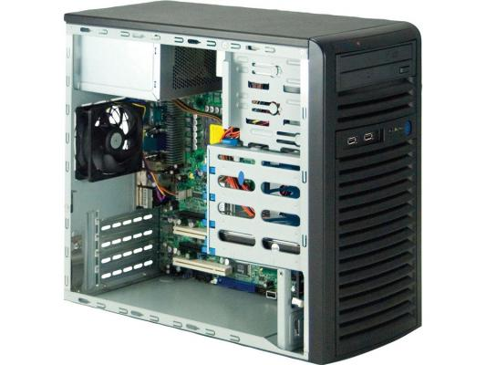 Серверный корпус Supermicro CSE-731I-300B Mini-Towe Micro-ATX 2x5.25'' 4x3.5'' SAS/SATA 2xUSB 300Вт черный