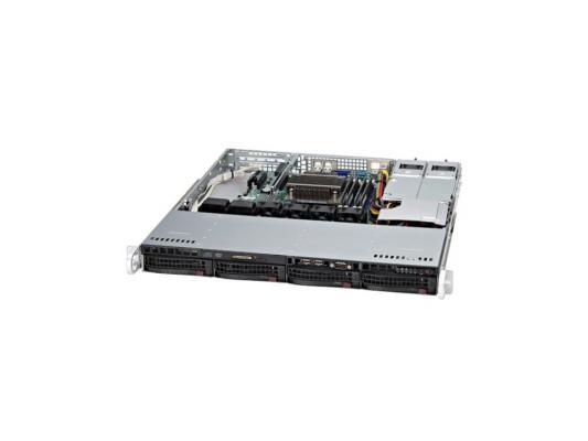 Серверный корпус 1U Supermicro CSE-813MTQ-350CB 350 Вт чёрный