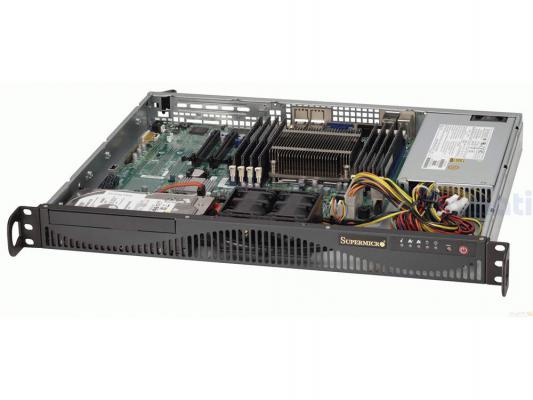 Серверный корпус 1U Supermicro CSE-512F-350B 350 Вт чёрный