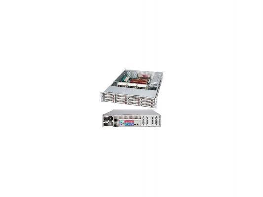 Серверный корпус Supermicro CSE-826TQ-R800LPB 2U 13.68''x13'' 12x3.5'' HotSwap SAS/SATA SES2 800Вт черный
