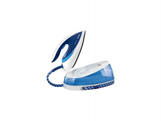 Утюг Philips GC7619/25 2400Вт белый синий