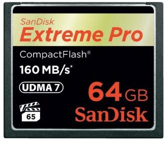 Карта памяти Compact Flash Card 64Gb Sandisk SDCFXPS-064G-X46 карта памяти compact flash card 128gb sandisk vpg 65 udma 7 sdcfxps 128g x46