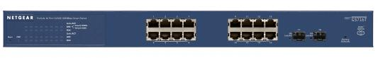 Коммутатор NetGear GS716T-300EUS управляемый 16 портов 10/100/1000BASE-T/SFP коммутатор netgear jfs516 200eus 16 портов 10 100base t