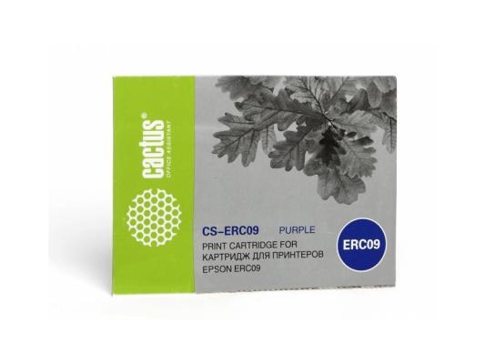 Картридж Cactus CS-ERC09 для Epson ERC09 фиолетовый 280000 знаков cactus cs erc09 magenta картридж ленточный для epson erc09