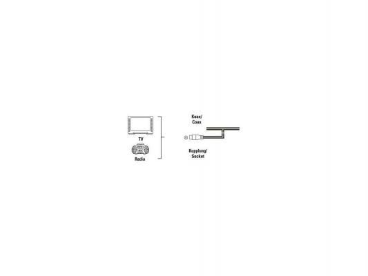 Антенна Hama 00122482 FM комнатная проволочная коаксиальный разъем белый