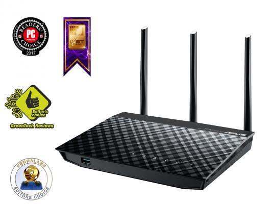 Маршрутизатор ASUS RT-N18U 802.11bgn 600Mbps 2.4 ГГц 4xLAN USB3.0 черный