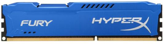 все цены на Оперативная память 8Gb PC3-12800 1600MHz DDR3 DIMM CL10 Kingston HX316C10F/8 HyperX FURY Blue Series