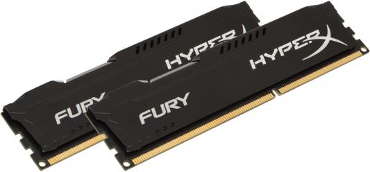 Оперативная память 16Gb (2x8Gb) PC3-10600 1333MHz DDR3 DIMM CL9 Kingston HX313C9FBK2/16 HyperX FURY Black Series оперативная память kingston 16gb 2400mhz ddr4 dimm kvr24se17d8 16