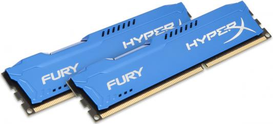 Оперативная память 16Gb (2x8Gb) PC3-12800 1600MHz DDR3 DIMM CL10 Kingston HX316C10FK2/16 HyperX FURY Blue Series оперативная память 2gb pc3 10600 1333mhz ddr3 dimm kingston kvr13n9s6 2