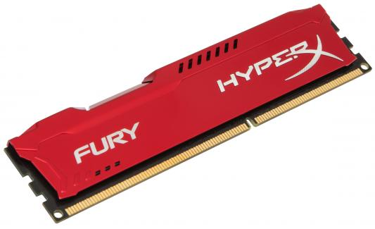 Оперативная память 4Gb PC3-10600 1333MHz DDR3 DIMM CL9 Kingston HX313C9FR/4 HyperX FURY Red Series цена