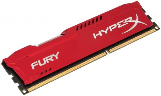 Оперативная память 4Gb PC3-12800 1600MHz DDR3 DIMM CL10 HyperX FURY Red Kingston HX316C10FR/4