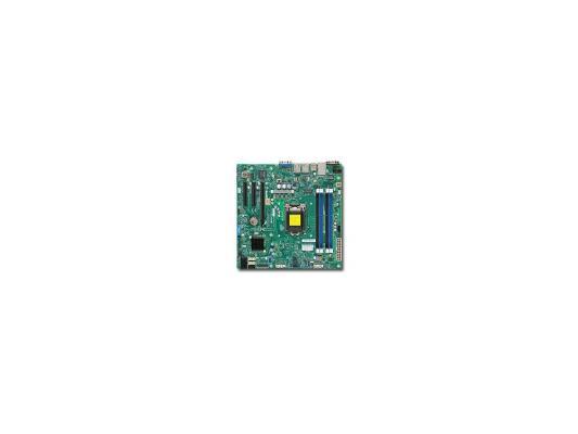 Мат. плата для ПК Supermicro MBD-X10SLL-F-O Socket 1150 Intel C222 4xDDR3 1xPCI-E 4x 2xPCI-E 8x 4xSATA II 2xSATAIII mATX Retail материнская плата asus h81m r c si h81 socket 1150 2xddr3 2xsata3 1xpci e16x 2xusb3 0 d sub dvi vga glan matx