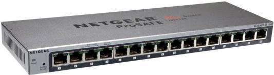 Коммутатор NETGEAR GS116E-200PES управляемый 16 портов 10/100/1000BASE-T ProSafe Plus