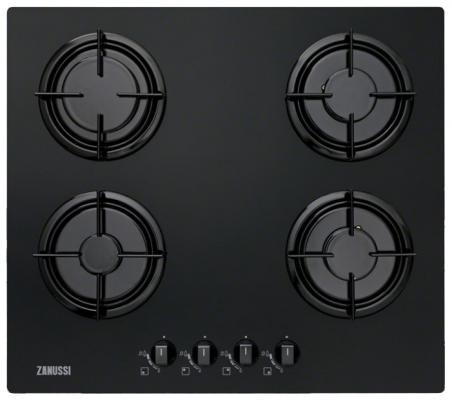 Варочная панель газовая Zanussi ZGO65414BA черный
