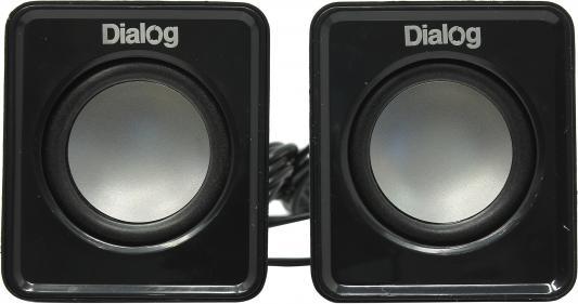 Колонки Dialog Colibri AC-02UP 6W USB черный компьютерная акустика dialog ac 04up черный оранжевый ac 04up black orange
