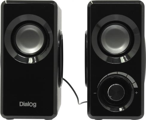 Колонки Dialog Stride AST-25UP 6W USB черный колонки dialog disco ad 07 2x12вт вишневый