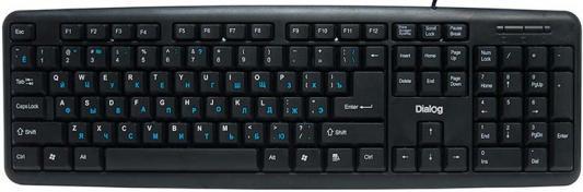 Клавиатура Dialog Standart KS-020P PS/2 черный цена и фото