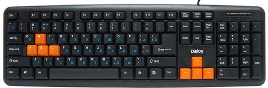 Клавиатура Dialog Standart KS-020U USB черный оранжевый