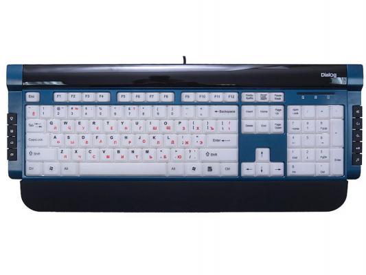 Клавиатура проводная Dialog Katana КК-L06U USB черный белый синий