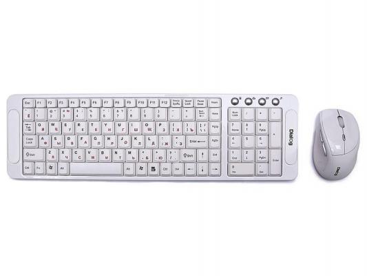 Комплект Dialog Katana RF KMROK-0318U белый USB