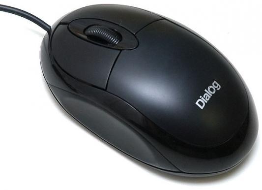 Мышь проводная Dialog Pointer MOP-00BU чёрный USB