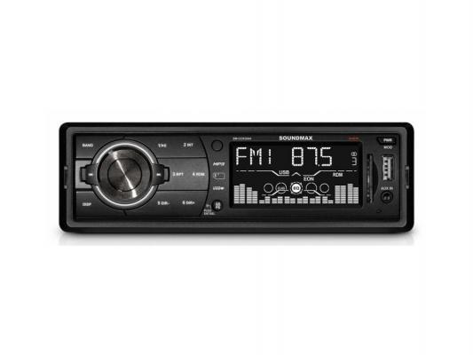Автомагнитола Soundmax SM-CCR3044 бездисковая USB MP3 FM RDS SD MMC 1DIN 4x45Вт черный автомагнитола rolsen rcr 100g бездисковая usb mp3 fm sd mmc 1din 4x45вт черный