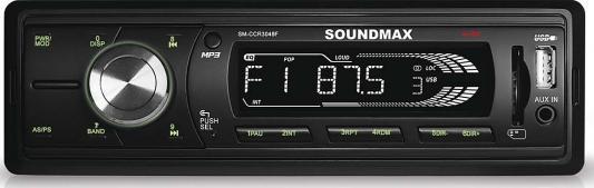 Автомагнитола Soundmax SM-CCR3048F бездисковая USB MP3 FM RDS SD MMC 1DIN 4x45Вт черный автомагнитола rolsen rcr 210g бездисковая usb mp3 fm sd mmc 1din 4x45вт черный