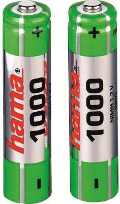 Аккумуляторы Hama H-87088 1000 мАч AAA 2 шт hama hama h 17884