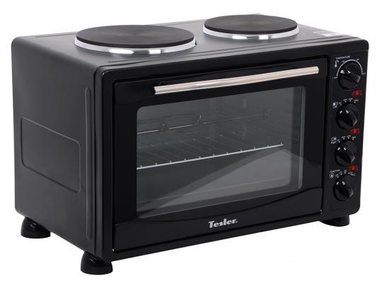 Мини-печь TESLER EOGP-3000 чёрный морозильник tesler rf 90 белый
