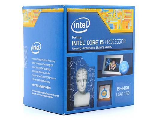 Процессор Intel Core i5-4460 3.2GHz 6Mb Socket 1150 BOX intel intel core i7 5820k haswell e 3300 6