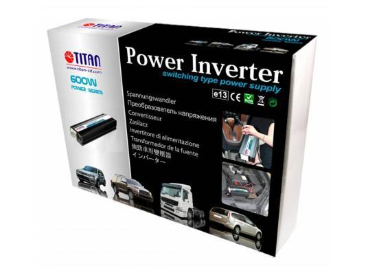 Автомобильный инвертор напряжения Titan HW-600E6 600Вт автомобильный инвертор напряжения belkin f5c412eb300w