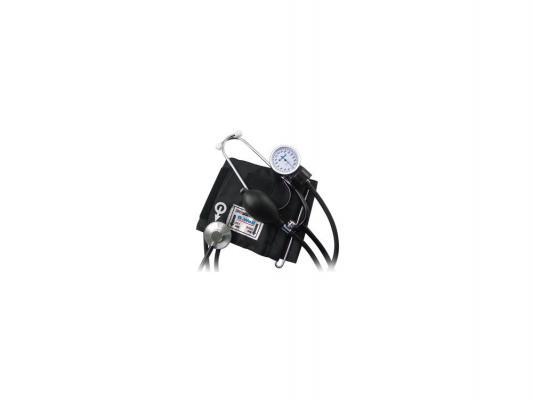 Тонометр механический B.Well WM-62S стетоскоп в комплекте черный тонометр механический с встроенным стетоскопом b well wm 63s комфорт