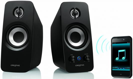 Колонки Creative T15 Wireless 18 Вт черный 51MF1670AA000 колонки creative inspire t6300 51mf4115aa000