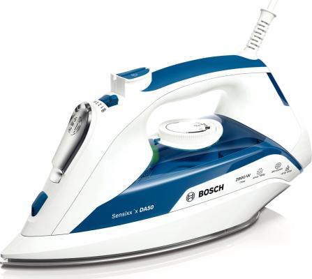Утюг Bosch TDA 5028010 2800 Вт подача пара 40 г/мин пар.удар 180 г/мин бело-синий